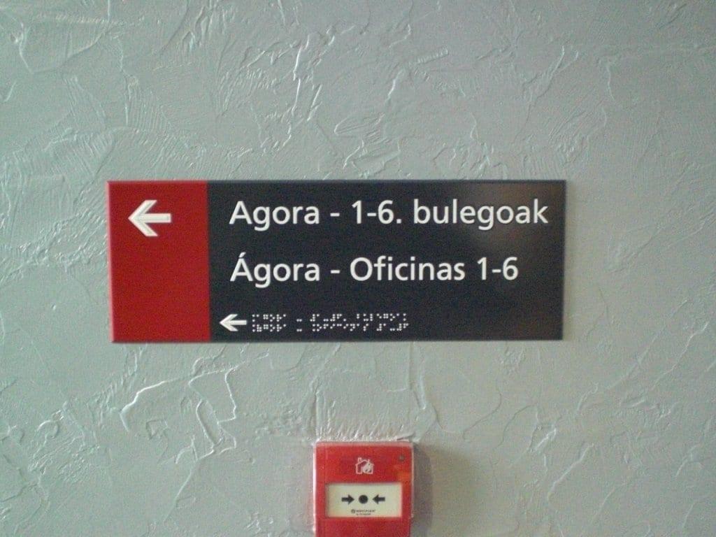 Señales en braille