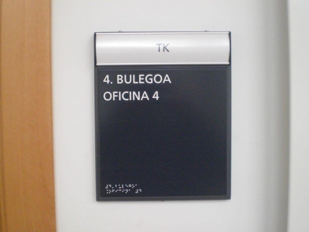 Señalización braille