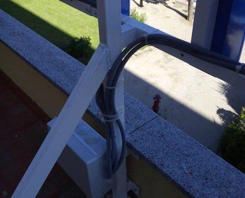 Rótulo corpóreo luminoso para el hospital El Escorial: estructura y transformador