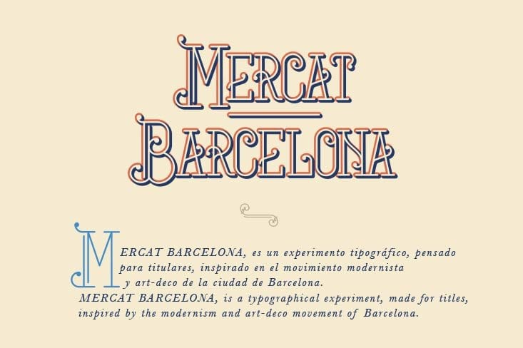 Mercat Barcelona-Tipografía gratuita inspirada en la ciudad condal (1)