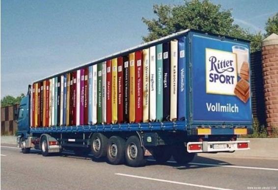 Nuevos ejemplos sorprendentes de publicidad en camiones (1)