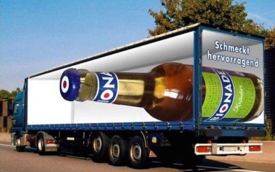 Nuevos ejemplos sorprendentes de publicidad en camiones (11)