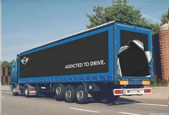 Nuevos ejemplos sorprendentes de publicidad en camiones (2)