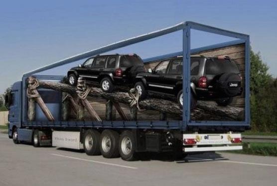 Nuevos ejemplos sorprendentes de publicidad en camiones (3)