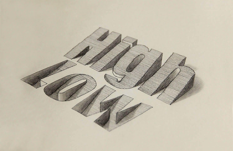 Tipografía en 3D del inglés Lex Wilson (3)