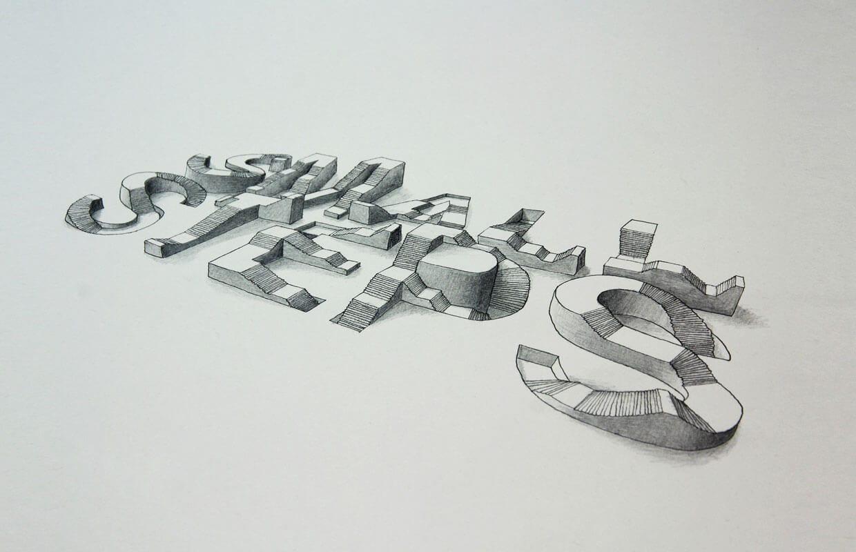 Tipografía en 3D del inglés Lex Wilson (7)