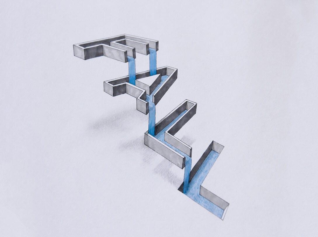 Tipografía en 3D del inglés Lex Wilson (8)