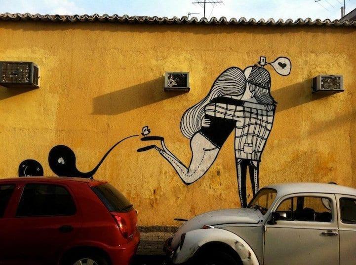 Arte callejero ideal para San Valentín (0)