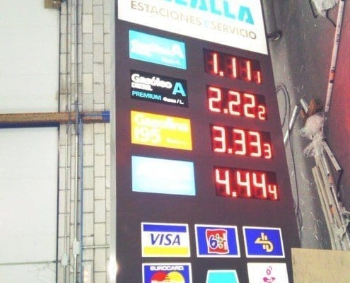 rótulos-gasolineras