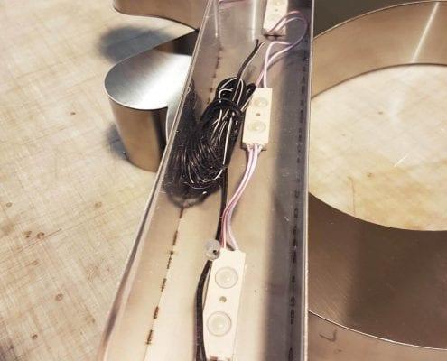 Letras Corporeas de Acero - Fabricación Xprinta