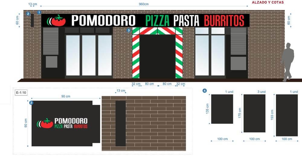Rotulacion Restaurante - Boceto