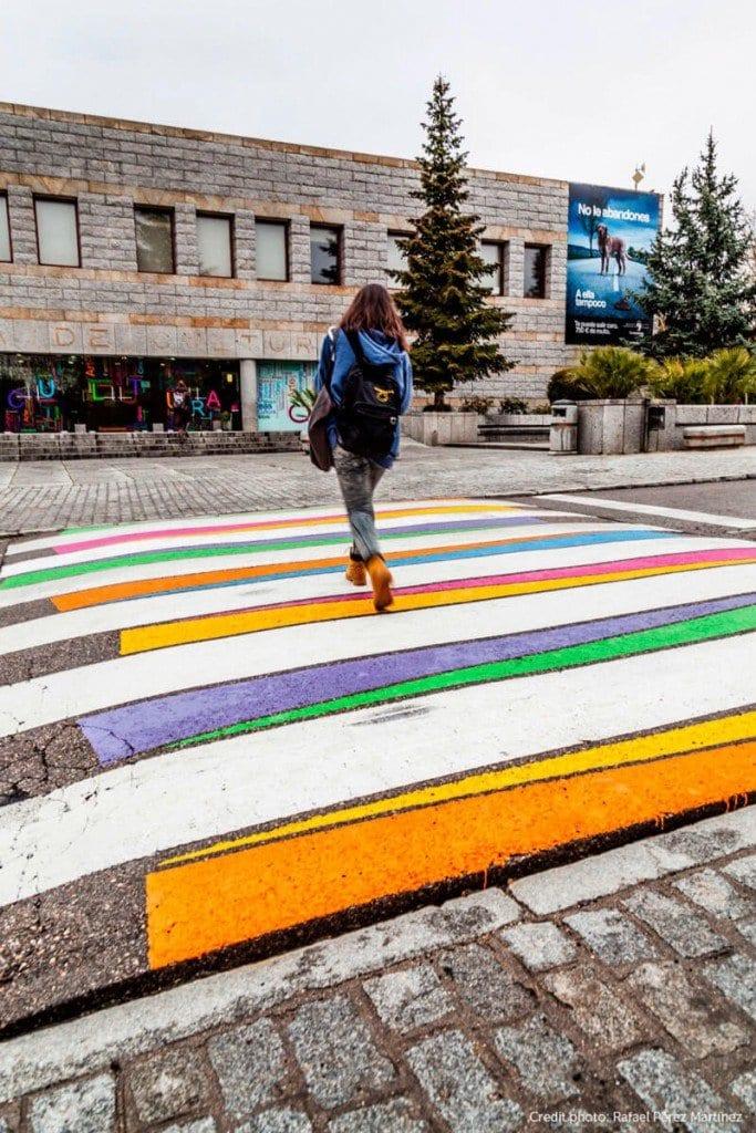 Pasos de cebra a color