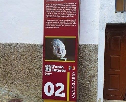Señaletica - Punto de interés 02Calendario (Salamanca)