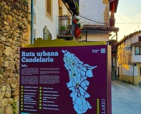 Señaletica - Ruta urbana Candelario (Salamanca) - 02