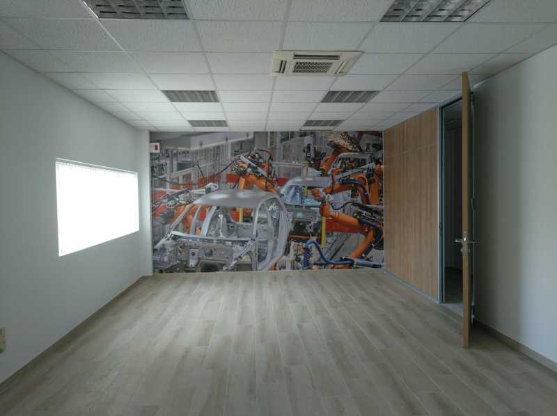 Mural de automoción para oficina
