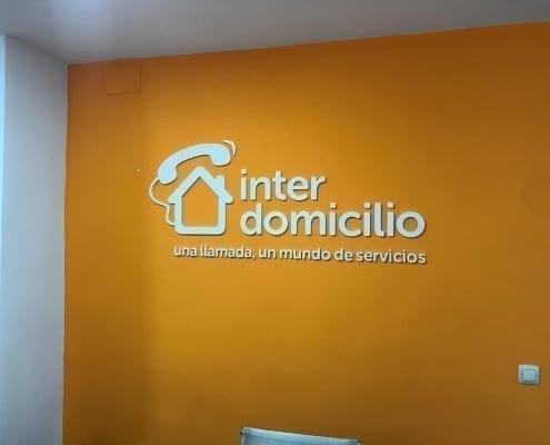 vinilo decorativo interior para oficina de servicios