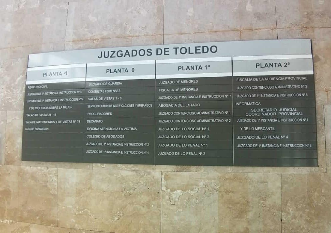 placas de orientacion para juzgados