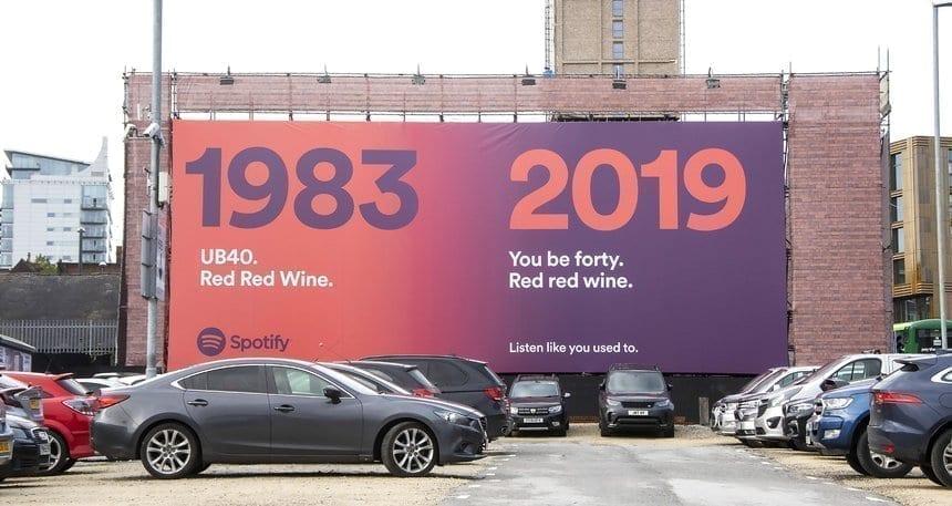 Publicidad Exterior simple y efectiva Spotify