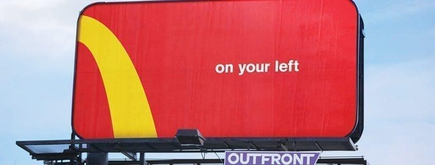 Publicidad exterior simple pero efectiva Mcdonals