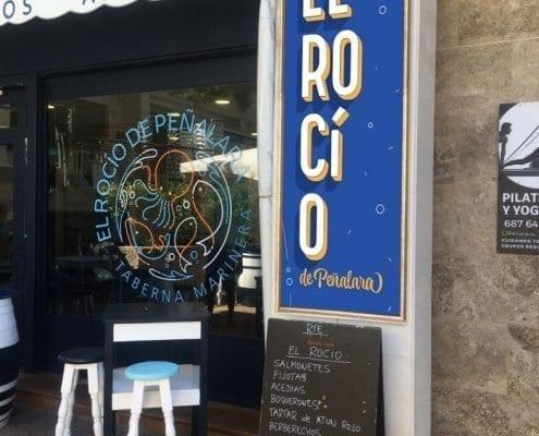 Rotulacion a mano para bares en Madrid