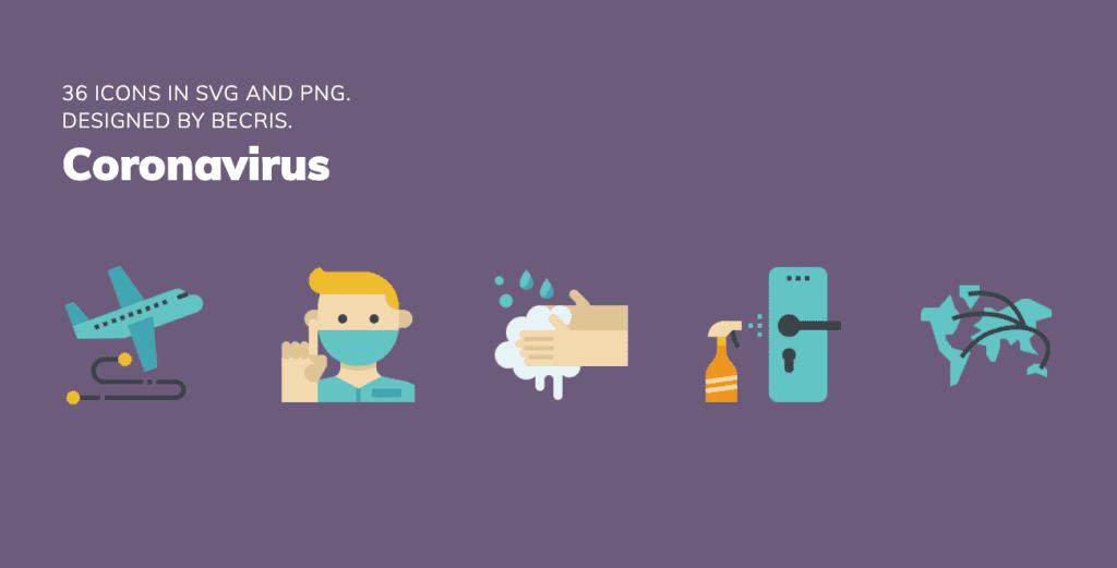 Iconos gratis coronavirus