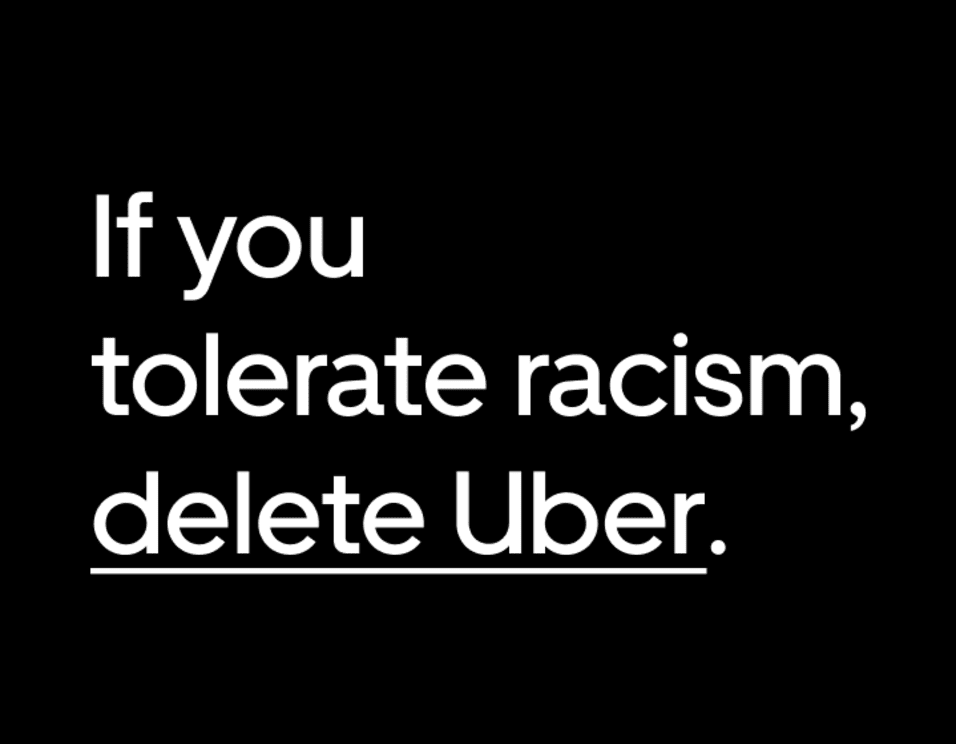 uber contra el racismo