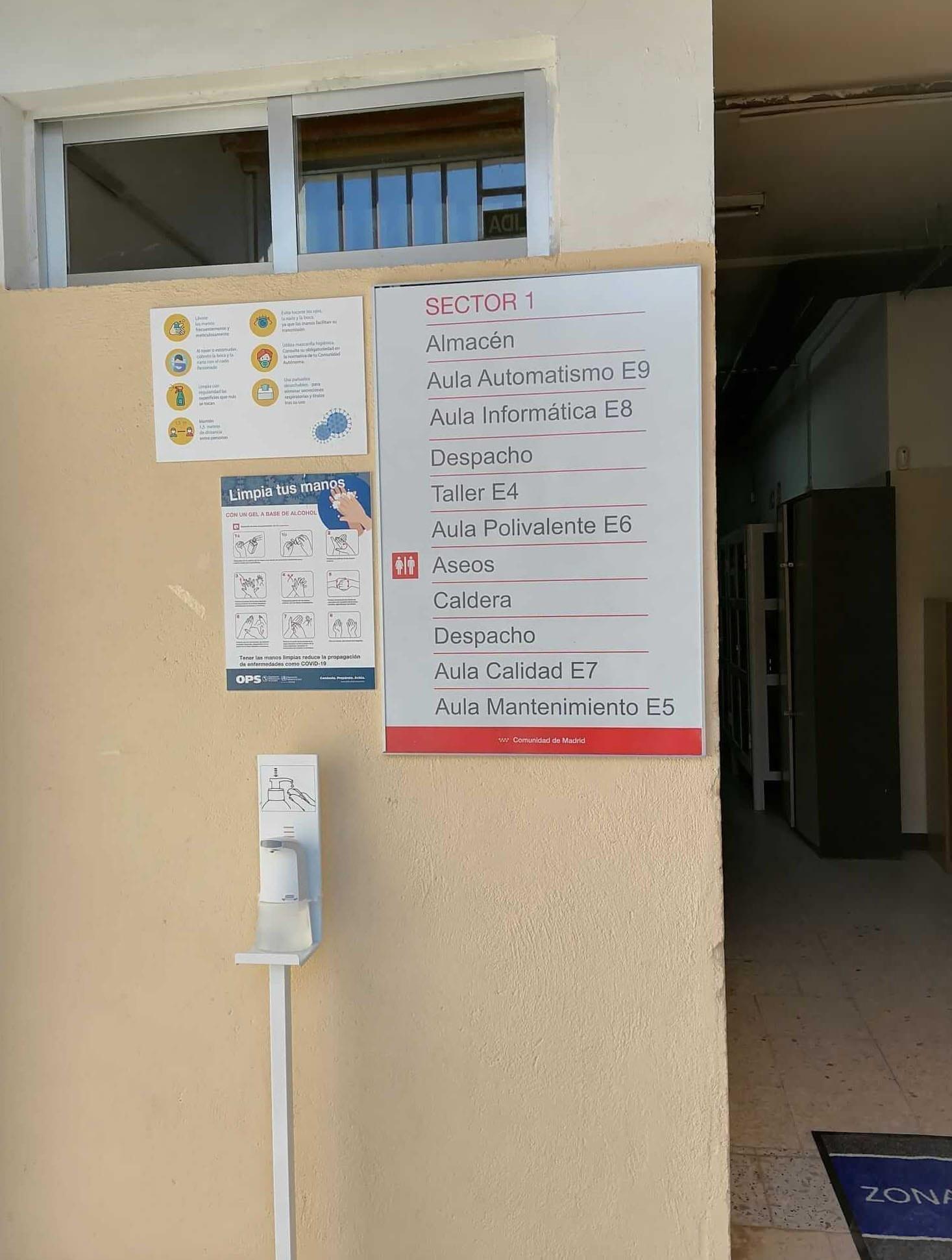señalizacion para institutos publicos