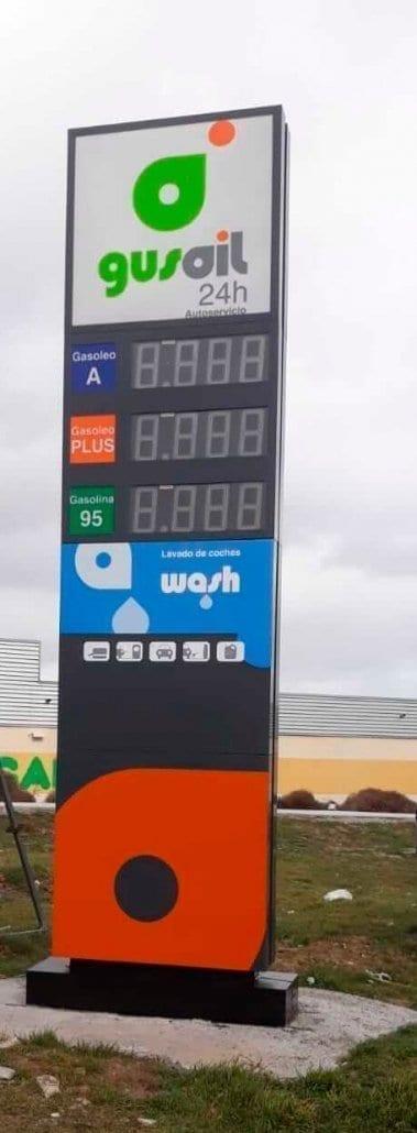 monolitos para gasolineras