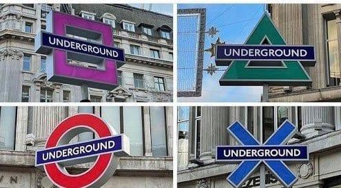 Publicidad en el Metro de Londres